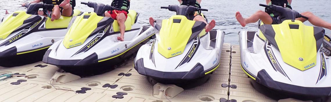 plataformas flotantes para motos de agua